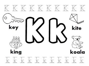 Letter K Worksheets By Kindergarten Swag Teachers Pay Teachers