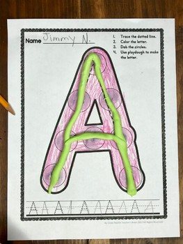 Letter Recognition Worksheets Center Activities for Pre K - Kindergarten