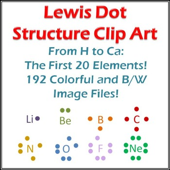 Lewis Structure Clip Art 20 Elements Dots And Atoms By