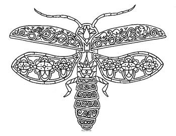 firefly coloring page # 5