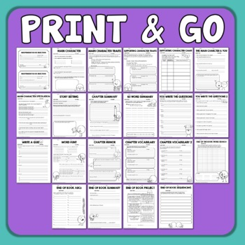 Reading Response Worksheets And Graphic Organizers For Any