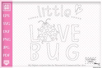 Download Little love bug SVG, Little bug SVG, Valentine's day SVG ...