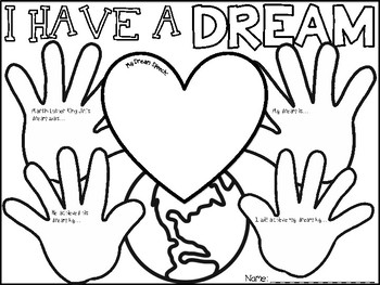 Mlk Day Coloring Pages With Short Writing Prompts Tpt