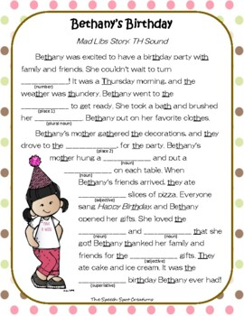 Birthday Mad Libs Worksheets Teaching Resources Tpt