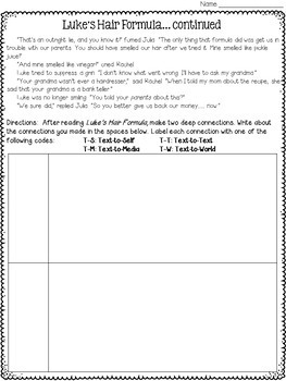 Making Connections Worksheets By Deb Hanson