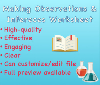 Making Observations And Inferences Worksheet By The Fab