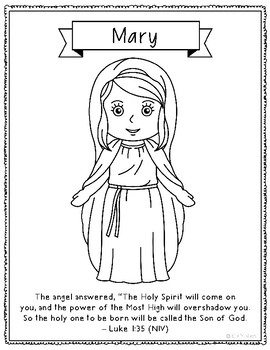mary coloring pages # 13