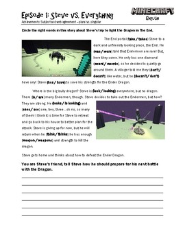 Minecraft English Worksheets By Hkks Education