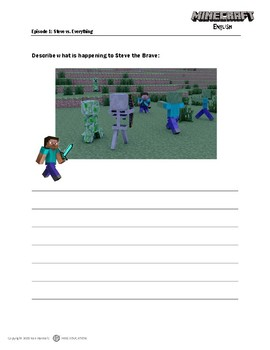 Minecraft English Worksheets by HKKS Education   TpT Minecraft English Worksheets