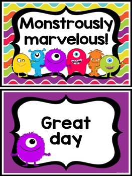Monster Theme Behavior Clip By The Teaching Treehouse