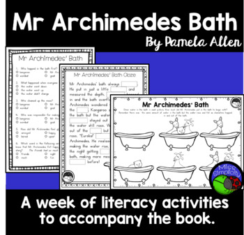 Mr Archimedes Bath A Week Of Reading Activities By Miss