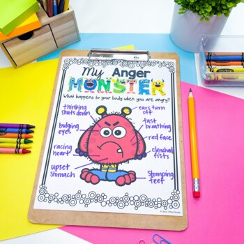 My Anger Monster An Anger Management Activity By Heart