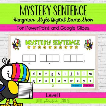 Mystery Sentence: Hangman-style digital game show
