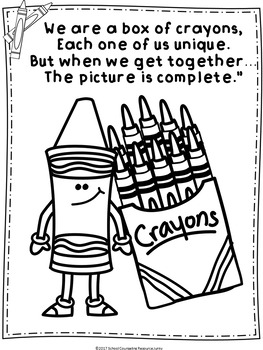 National Crayon Day Bulletin Board Coloring Pages Tpt