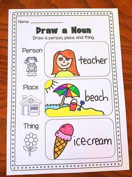 Nouns Printable Worksheet Pack