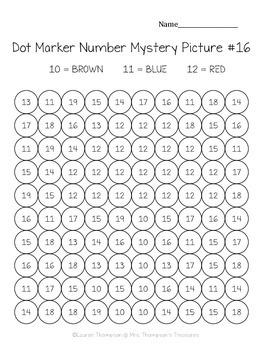 Kindergarten Numbers 10 20 Dot Marker Mystery Picture