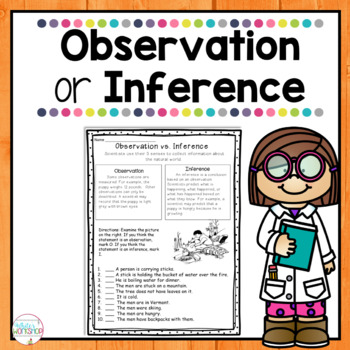 Observations Vs Inferences By White S Workshop