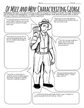 Of Mice And Men Characterization Activity Ch 1