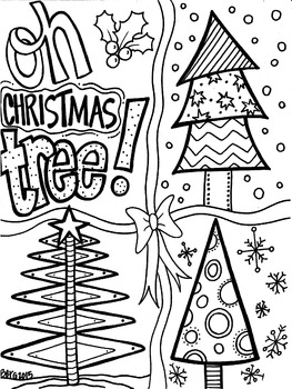 Christmas Tree Coloring Page Worksheets Teaching Resources Tpt