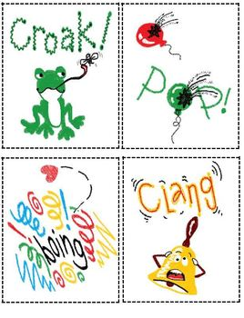 Onomatopoeia Visual Cards Poem Worksheet By The Groovy