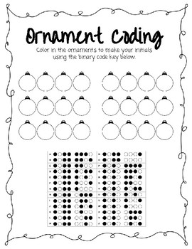 Winter Coding Worksheet No Prep By Anchored In Education