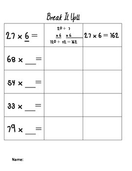 Partial Product Worksheet By Sad S Joy