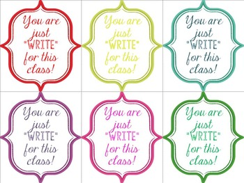 PencilPen Gift Tags Printable Back To School Gifts For