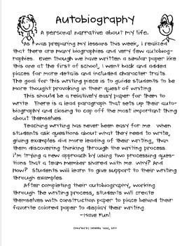 Autobiography Essay Sample