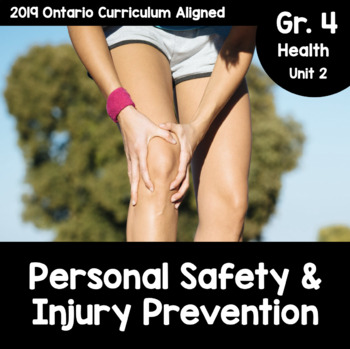 Grade 4 Personal Safety And Injury Prevention Activity