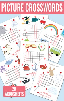 Picture Crossword Puzzles For Kindergarten And Grade 1 By