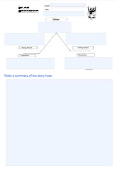 Plot Diagram Blank Graphic Organizer of Story Elements