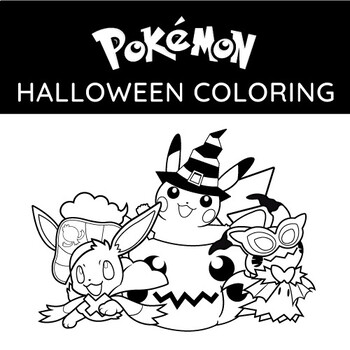 Pokemon Halloween Coloring Page Halloween Coloring Page Tpt