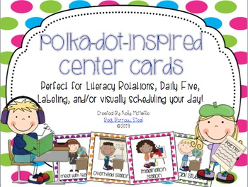 Polka Dot Center Rotation Cards