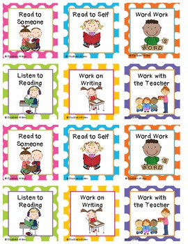 Daily 5 Rotation Cards Worksheets Teaching Resources Tpt
