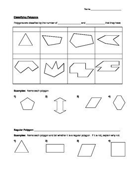 Polygons Guided Notes Page