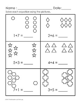 Pre K 1st Grade Easy Addition Worksheets 0 11 25 Worksheets Common Core
