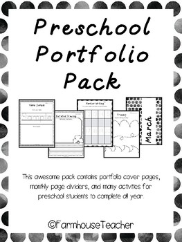 Preschool Portfolio Pack By FarmhouseTeacher Teachers Pay Teachers
