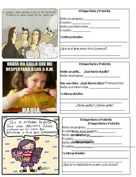 Preterit Imperfect Meme And Comic Activity El Imperfecto Y Preterito