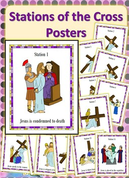 Printable Stations Of The Cross Posters
