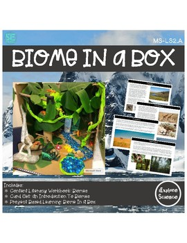 Biome In A Box Project is an opportunity for students to demonstrate their understanding of Earth's biomes and the interactions between biotic and abiotic factors to address the Next Generation Science Standards Disciplinary Core Idea: LS2.A