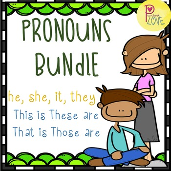 Pronouns Worksheet Bundle By Preschool Love