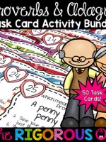 Proverbs and Adages Task Card Activity Bundle