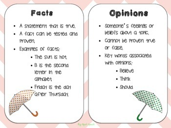Reasoning With Rain Facts Versus Opinions In Writing