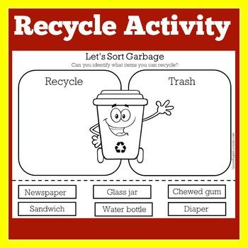 Reduce Reuse Recycle Worksheet Sort