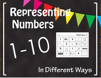 Representing Numbers In Different Ways 1 10 By Kinders