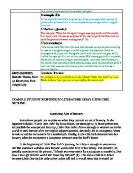 Literary Analysis Essay Examples