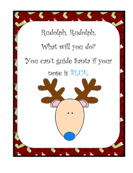 Christmas Activity Rudolph Rudolph Poem Make A Book By Christy Jones