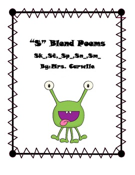 S Blend Poems For Phonics Or Word Study By Shabby Chic