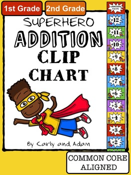 Superhero Addition Clip Chart System By Carly And Adam