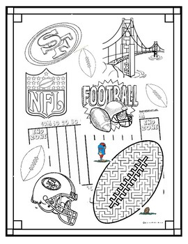 San Francisco 49ers Football Coloring Page Could Use In Sub Plan